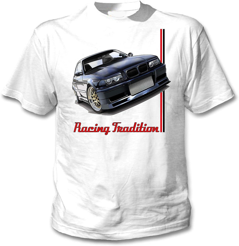 TEESANDENGINES BMW E36 Turbo Inspired 11 Camiseta Blanca para Hombre de Algodon: Amazon.es: Ropa y accesorios
