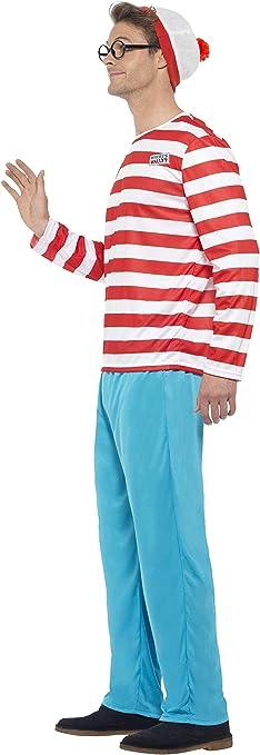 Smiffys - Disfraz de Wally para hombre, talla 42-44 (34591L ...