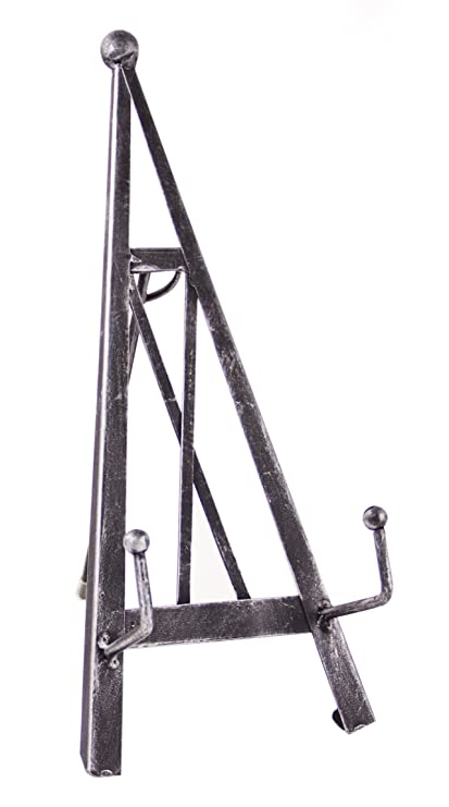 Industrial Style Decorative Plate Stand and Art Holder Easel in Brushed Silver Finish  sc 1 st  Amazon.com & Amazon.com: Red Co. Industrial Style Decorative Plate Stand and Art ...
