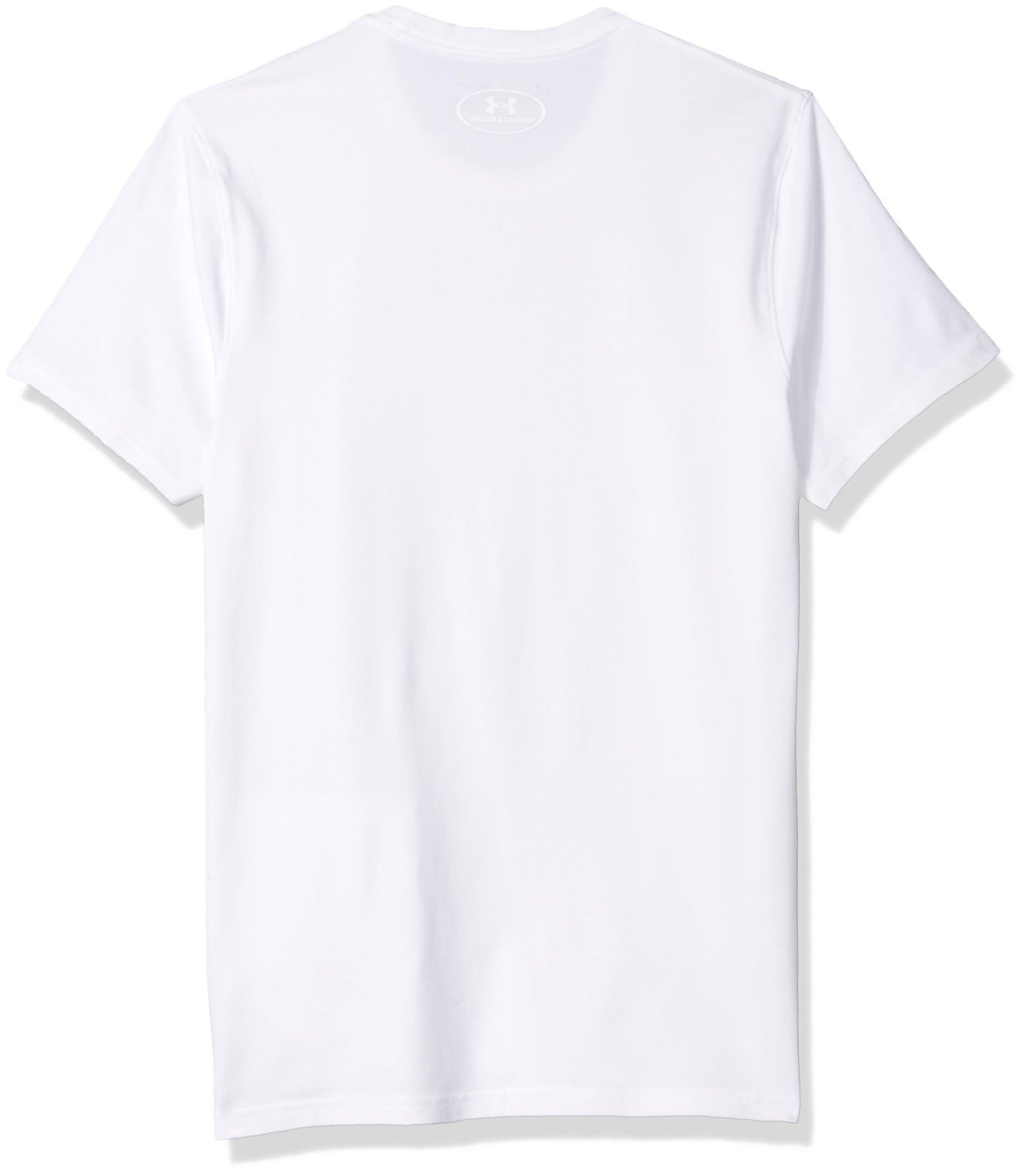 Under Armour Men's Cotton Stretch Crew Undershirt – 2-Pack,White (100)/White, Medium by Under Armour (Image #2)