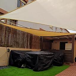 AXT SHADE Toldo Vela de Sombra Triangular 3, 6 x 3, 6 x 3, 6 m ...