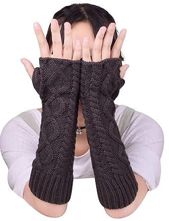 Stricken Fingerlose Handschuhe Weich Warm Lange Handschuhe Winter