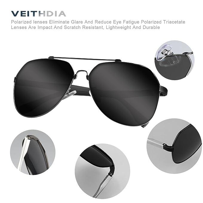VEITHDIA 3598 ajustable HD Polarizado Aviator gafas de sol para pesca conducción: Amazon.es: Ropa y accesorios