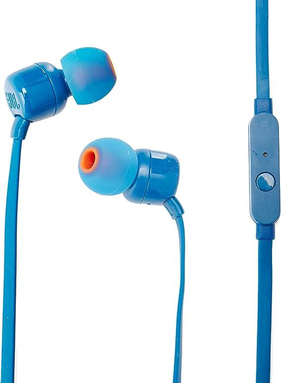 JBL T110 Pure Bass In-Ear Headphones - Blue