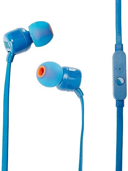 90dfc672f3d Amazon.com: JBL T110 Pure Bass in-Ear Headphones - Blue: Electronics