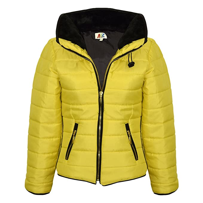 66fd9f8b5073c Girls Jacket Kids Padded Puffer Bubble Fur Collar Quilted Warm Thick Coats  3-13 Y