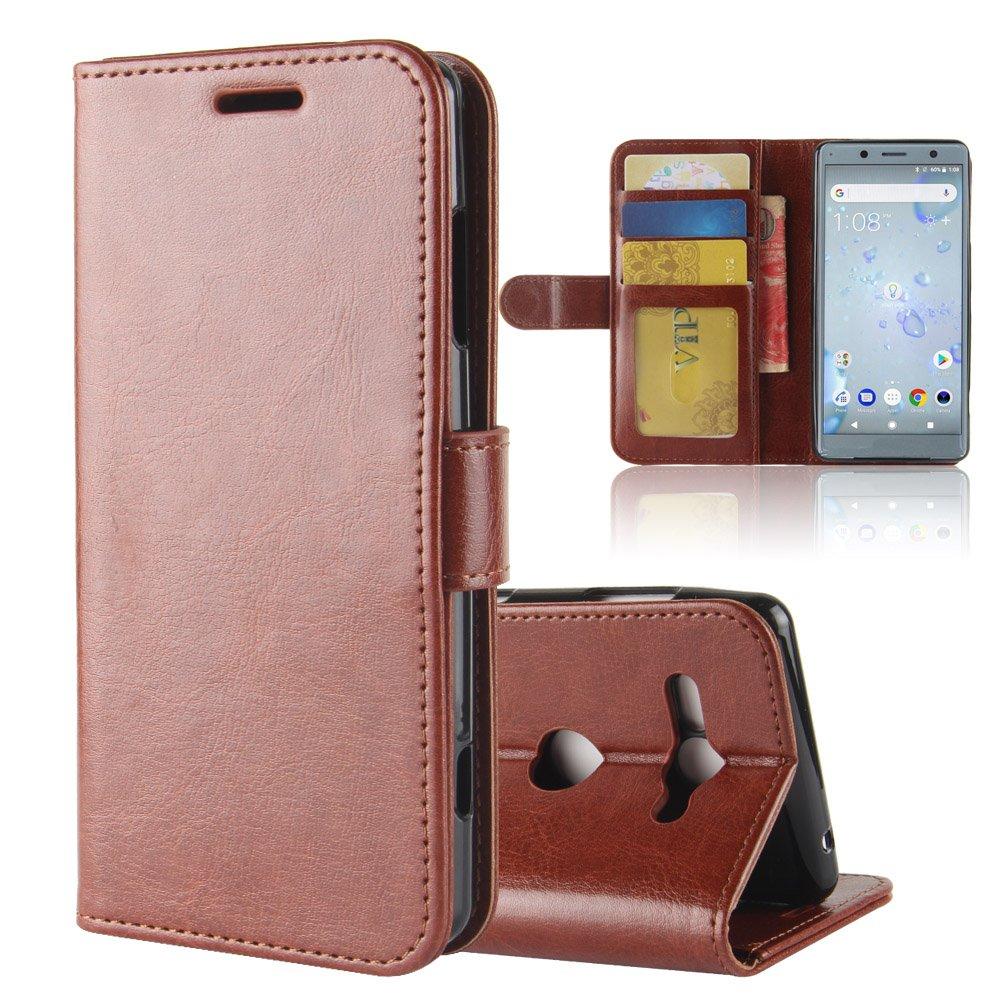 Sony Xperia XZ2 Compact Brieftasche Hülle, Stilvoller Handyhülle Fall GOGME[Geldbörse Hülle Serie] In einer multifunktionalen Retro-Stil Schutzhülle, Einschubfächer für Karten, Magnetische Verschluss, Flip Bracket Funktion Senior PU-Leder Brieftasche Telef