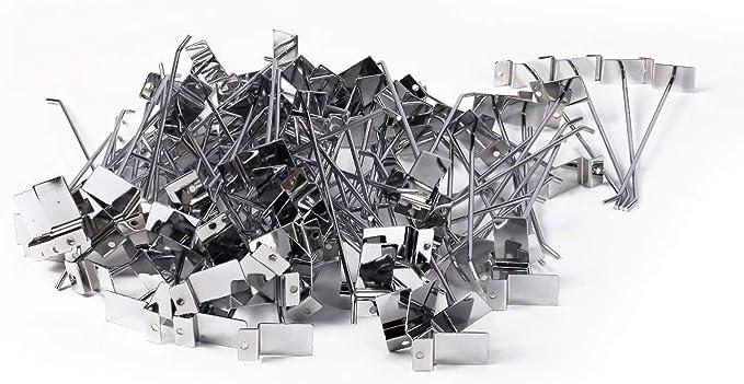 Nisorpa - Perchas para pared (100 unidades, 20 cm, cromadas): Amazon.es: Bricolaje y herramientas