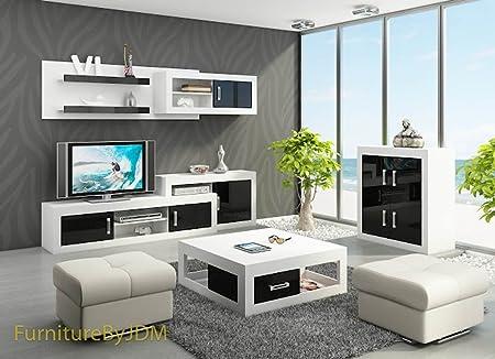 Unidad de pared de TV, TV – Juego de mesa, sala de estar Verin 1 – Banco de