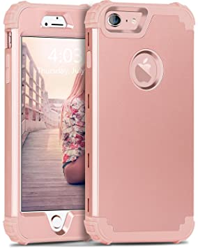 BENTOBEN iPhone 6 Funda, iPhone 6s Funda, 3 en 1 Carcasa Combinada PC Dura y TPU Silicona Fuerte Resistente PC Bumper Antigolpes Cover Cubierta ...