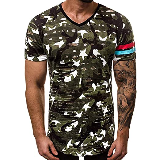 Summer Men Compression Camouflage T-Shirt Short Sleeve Sport Quick Dry Tee Shirt