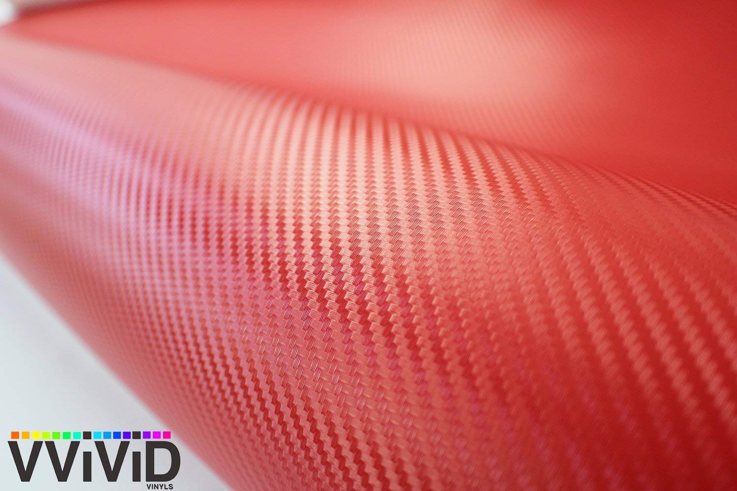 VViViD XPO Red Carbon Fiber Car Wrap Vinyl Roll with Air Release Technology (10FT X 5FT)