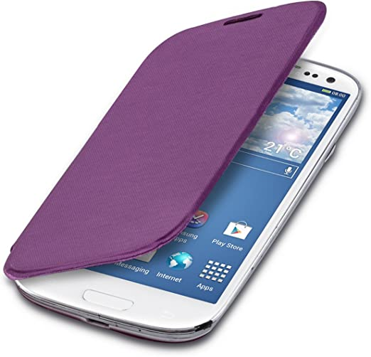 Kwmobile Practical And Chic Flip Cover Case For Samsung Galaxy S3 S3 Neo In Violet