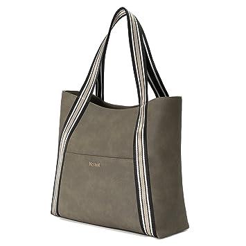Kadell Sacs fourre-tout femme Sac à main simple designer pour sac à bandoulière femme Noir AUCIPGZhB