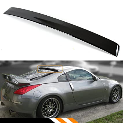 Cuztom Tuning FOR 2003 2008 NISSAN 350Z Z33 JDM PAINTED GLOSSY BLACK REAR  WINDOW ROOF