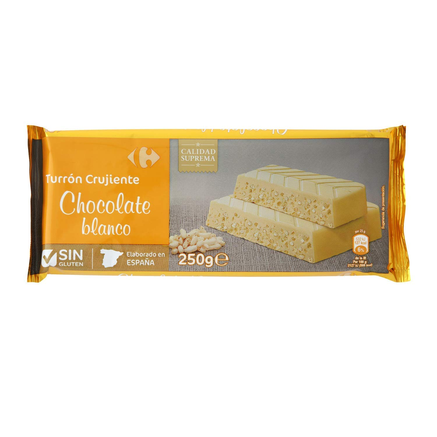 Amazon.com : 6 Pack Carrefour Crunchy White Chocolate ...