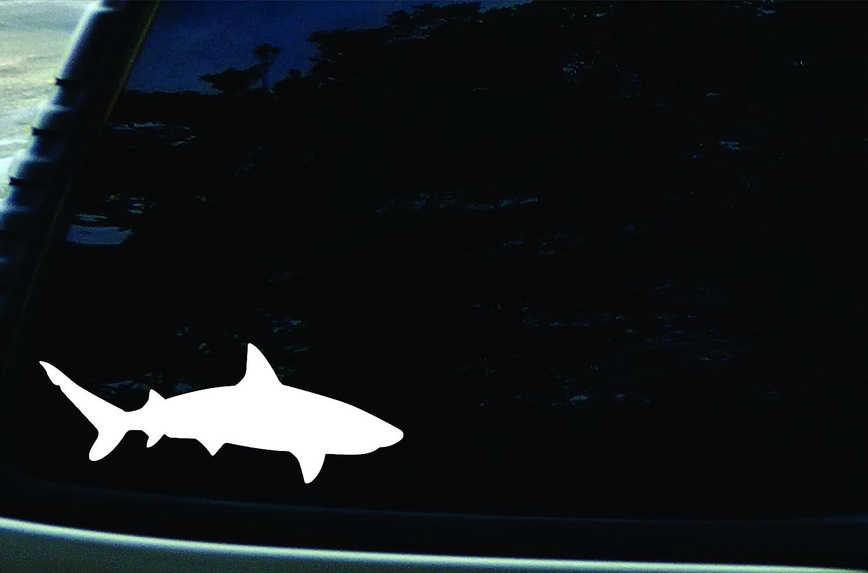 "7"" X 3"" Shark Vinyl Die Cut Decal for Cars, Trucks, Laptops, Windows"
