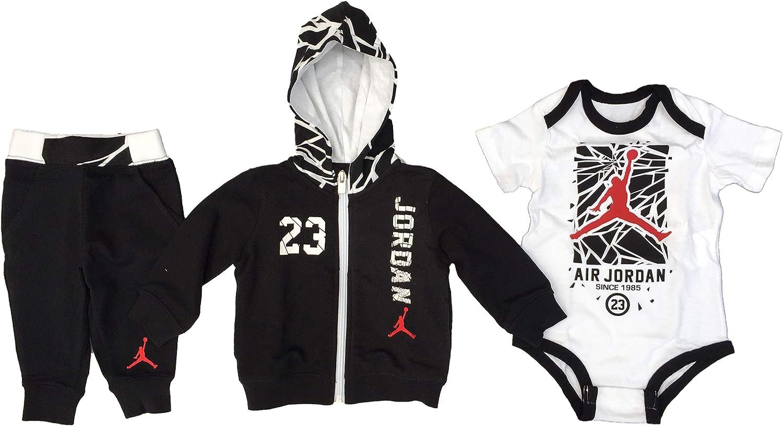 Nike Baby Boys 3 Piece Bodysuit, Hoodie and Pants Deluxe Set ...