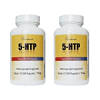5-HTP 100mg 400 Vegane Kapseln (2 Packungen a 200 Kaps) MADE IN GERMANY - Natürliche Serotonin