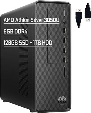 "HP Slim Premium Business Desktop Computer I AMD Athlon Silver 3050U (></noscript>i3-7130u) I 8GB DDR4 128GB SSD + 1TB HDD I AMD Radeon Graphics SuperSpeed USB Wifi5 Bluetooth HDMI Win10 + Delca HDMI Cable""> </a></div> <div class="