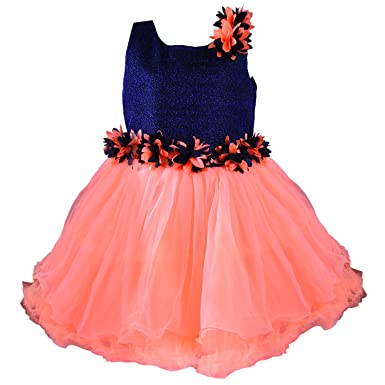 42d59b279 Wish Karo Baby Girls Net Frock Dress - (fe1005pch)  Amazon.in ...