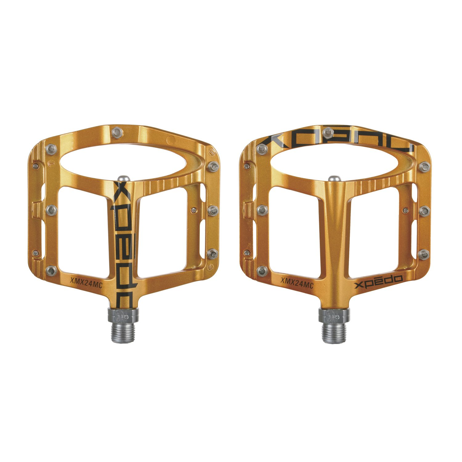 Xpedo Spry Bike Platform Pedal Gold by Xpedo