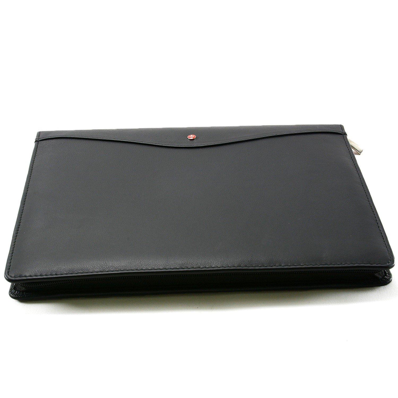 Cartera de piel Bloc Business Case para zurdos & Diestros, color negro talla única: Amazon.es: Oficina y papelería