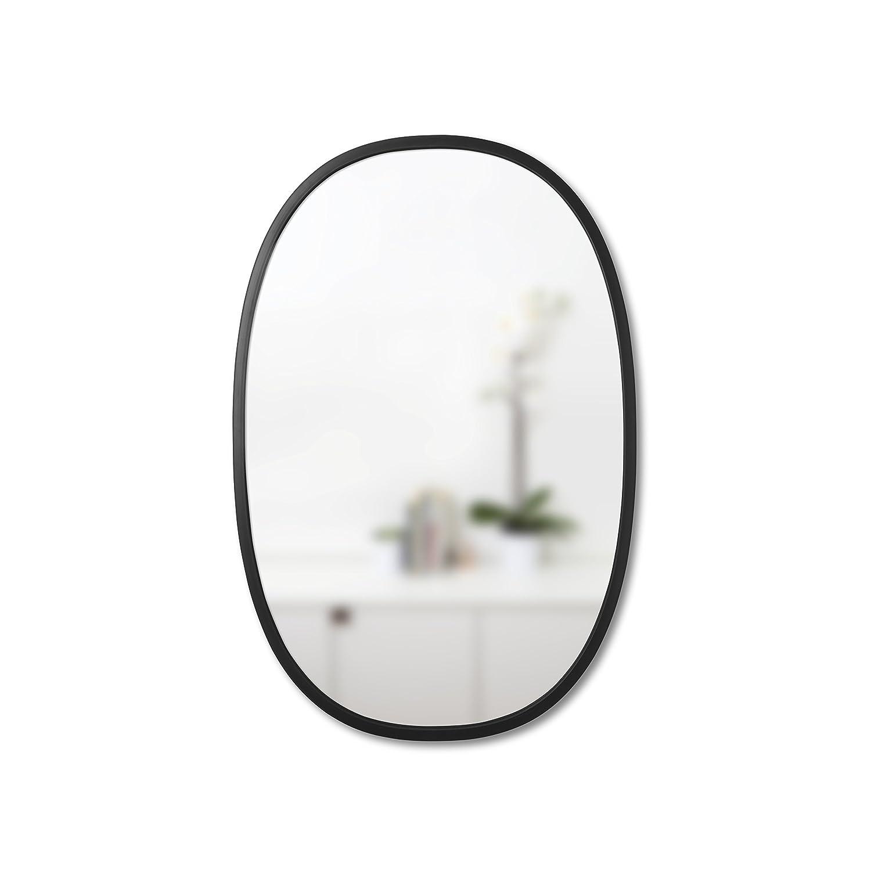 Umbra Hub Oval Wall Mirror, 36-Inch, Black