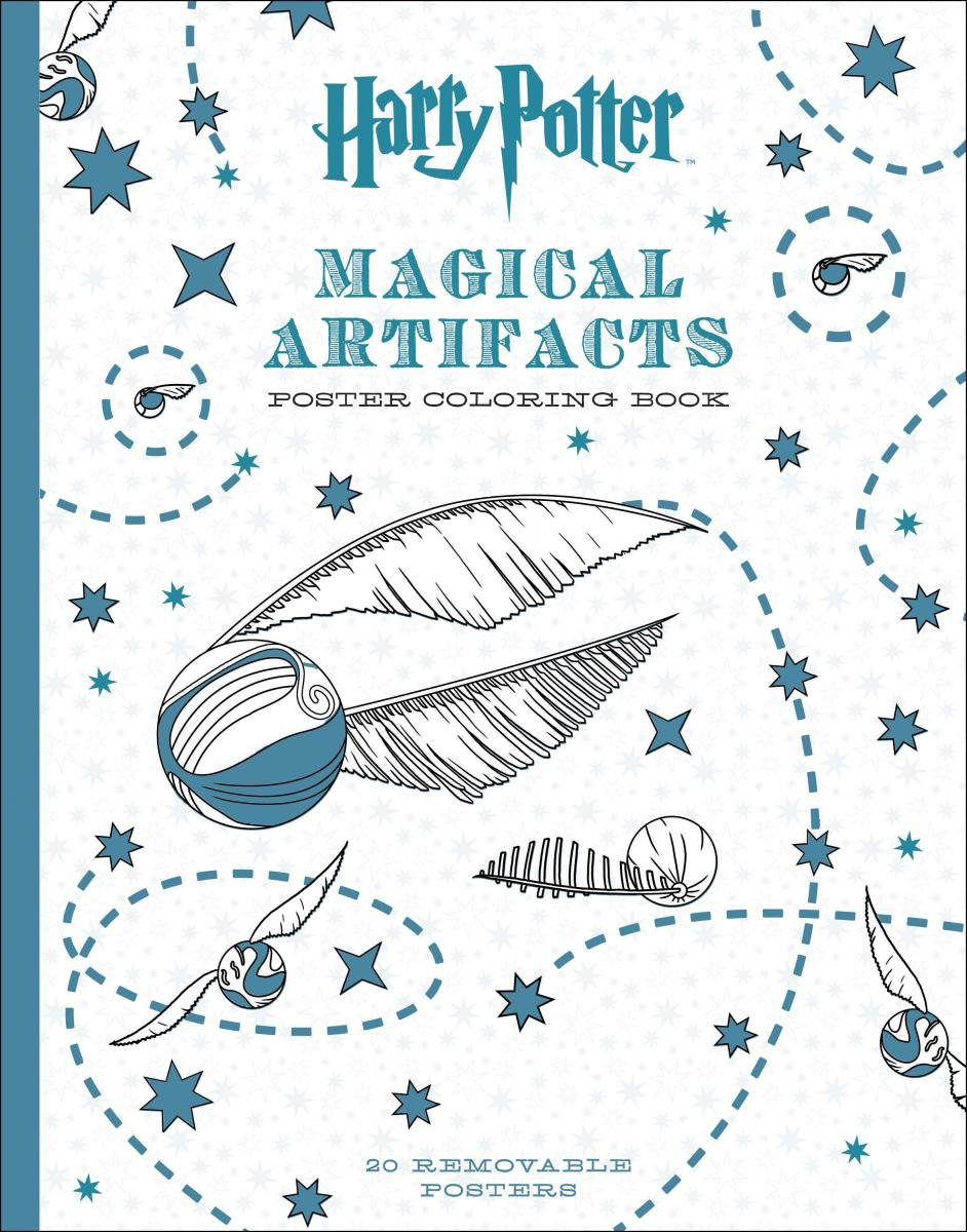 Harry Potter Magical Artifacts Poster Coloring Book Scholastic 9781338132939 Amazon Books