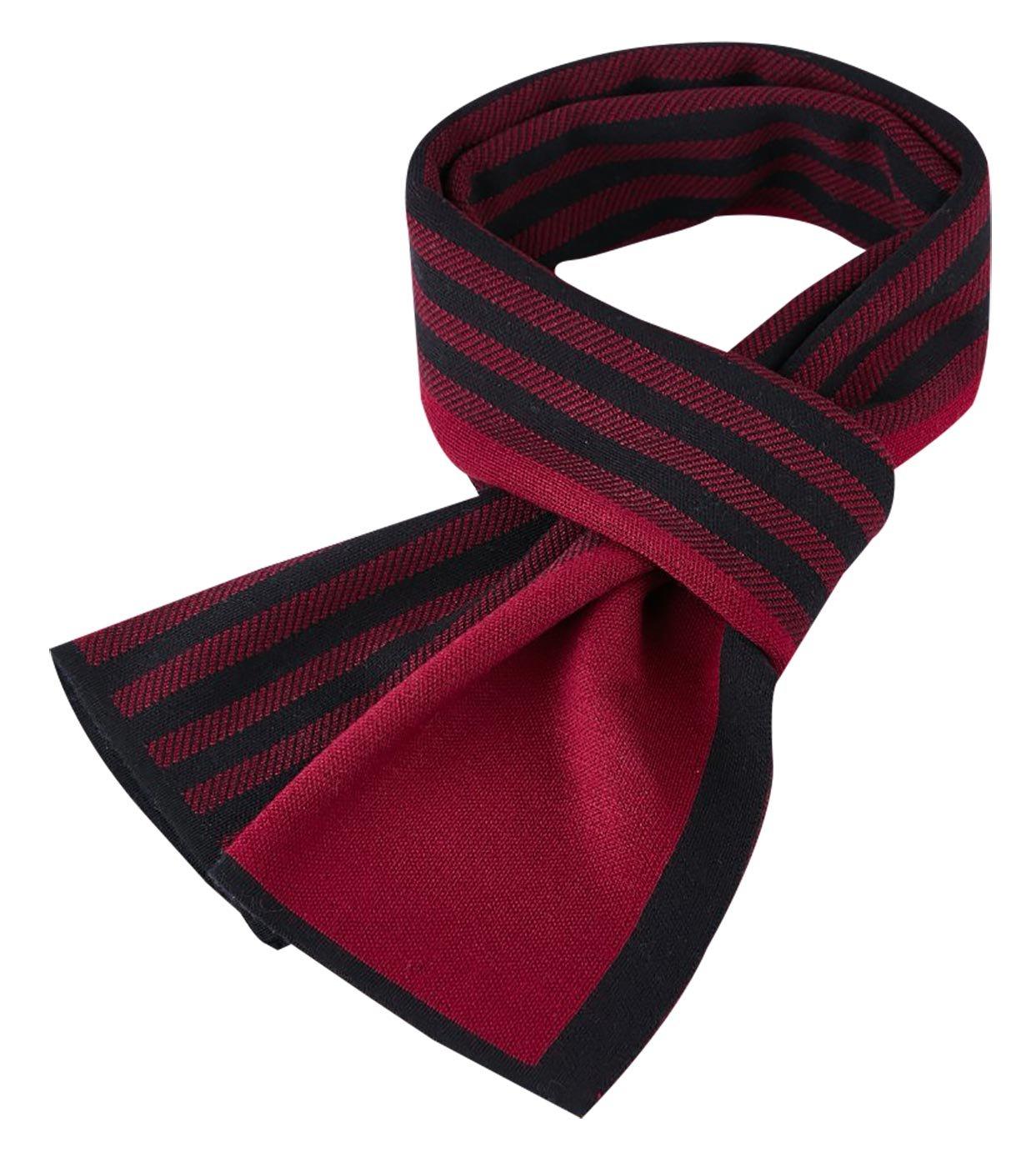Panegy Men's Winter Warm Striped Scarf Soft Elegant Long Fashion Grey Wrap Scarves
