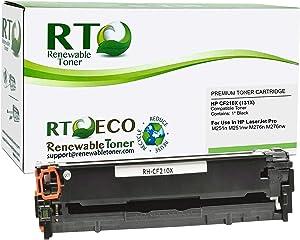 Renewable Toner Compatible Toner Cartridge Replacement for HP 131X CF210X Laserjet Pro 200 M251 M276 (Black , 1-Pack)