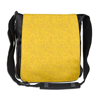 Lovebbag Autumn Colored Bay Leaf Pattern With Blueberry Figures Fall Season Crossbody Messenger Bag hot sale