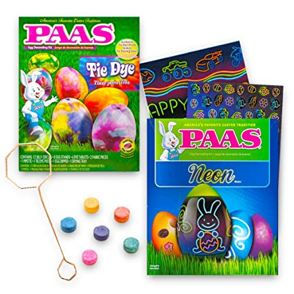 Amazon.com: Paas Neon and Tie Dye Easter Egg Decorating Kit -- Pack ...