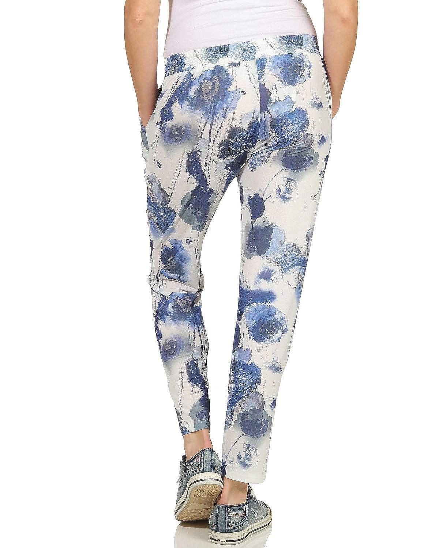 Benter Ladies Cotton Pants Casual Summer Pants Leisure Beach Fantasy Print