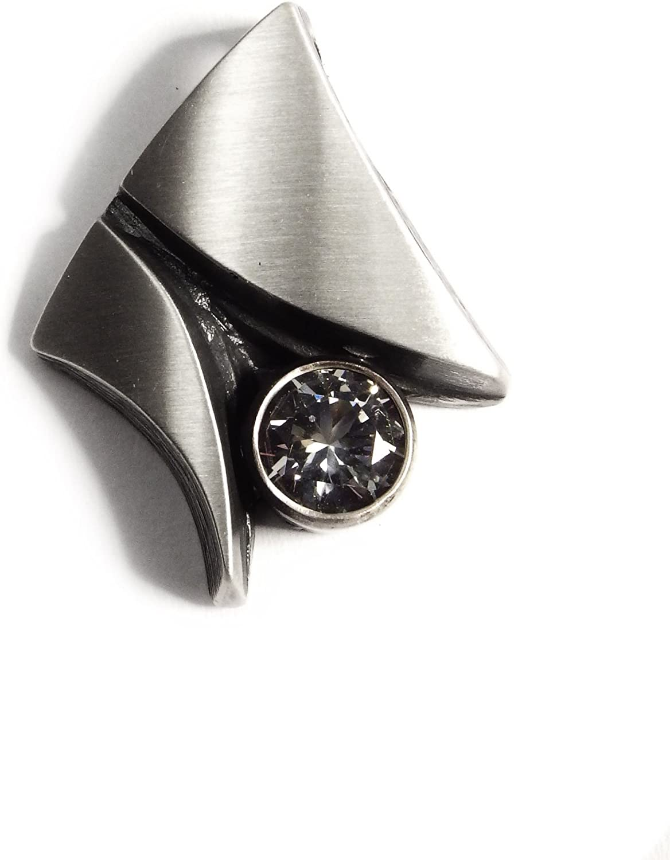 50 cm Venezianerkette an 45 cm Nord-Form Set Ohrstecker /& Anh/änger in 925// Silber Anlaufgesch/ützt mit Bergkristall opt