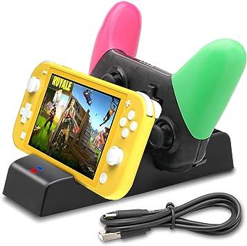 Base de Carga para Nintendo Switch Lite, estación de Carga para Nintendo Switch Lite y Controlador Pro con 9 Ranuras de Juego y 1 Cable USB C: Amazon.es: Electrónica