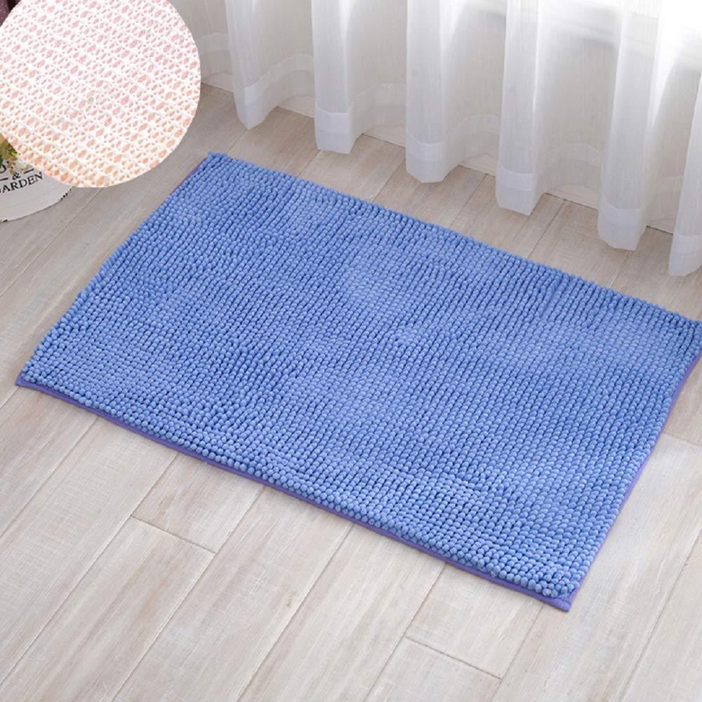 Azul Kaptin Alfombra de ba/ño de Chenilla Antideslizante y Absorbente para ba/ño o Ducha Lavable de Microfibra Suave 40x60CM