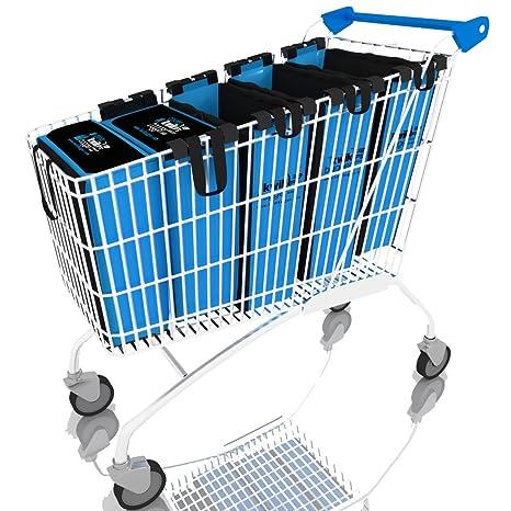 Carrito – Bolsas reutilizable Abarrotes Supermercado – Bolsas de la compra por kwikbagger Juego de bolsa