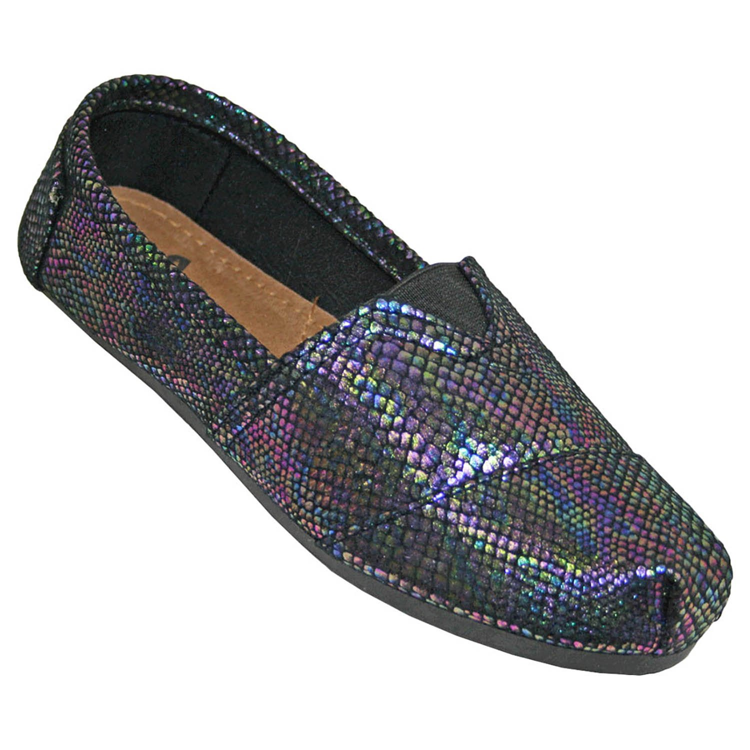 DAWGS Kaymann Women's Exotic Loafer SNAKE PRINT IN BLUE IRIDESCENT PRINT 5 M US