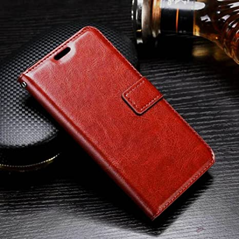 on sale 28625 6d726 XORB Luxury Revel Touch Matte Finish Leather Flip Cover for Oppo F3 (Brown)