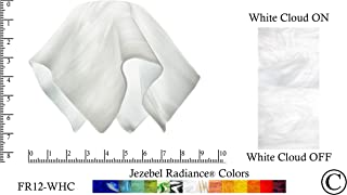 """product image for Jezebel Radiance FR12-WHC-158 Flame Glass Pendant/Ceiling Fan Light Replacement Glass Shade-1 5/8"""" Hole, Small, White Cloud"""