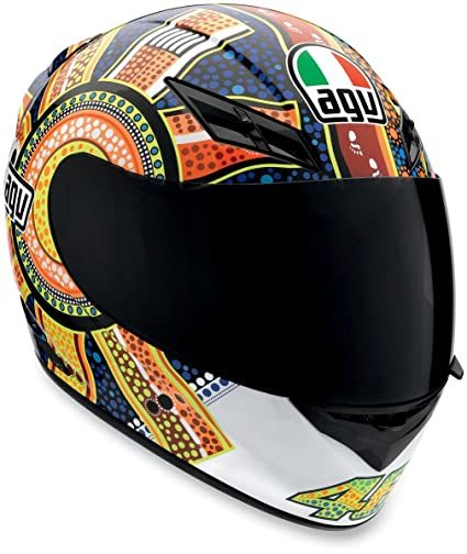 AGV K3 Dreamtime Full Face Motorcycle Helmet (Multicolor, X-Small)