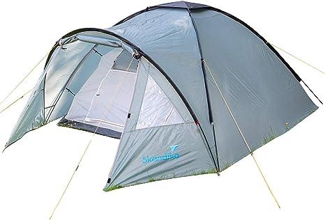 skandika Dale - 3 Personas - Tienda campaña con mosquitera - Ideal para Camping, Outdoor y Senderismo: Amazon.es: Deportes y aire libre