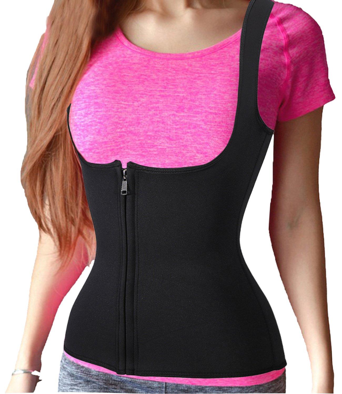 Sauna Waist Trainer Vest, Sport Hot Cincher Sweat Body Shaper Suit Neoprene GYM Junlan