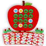 Humerry Wooden Memory Matching Game for Kids, Apple Memory Match Board Game with 5 Pieces Double-Sided Cards, Early Developme