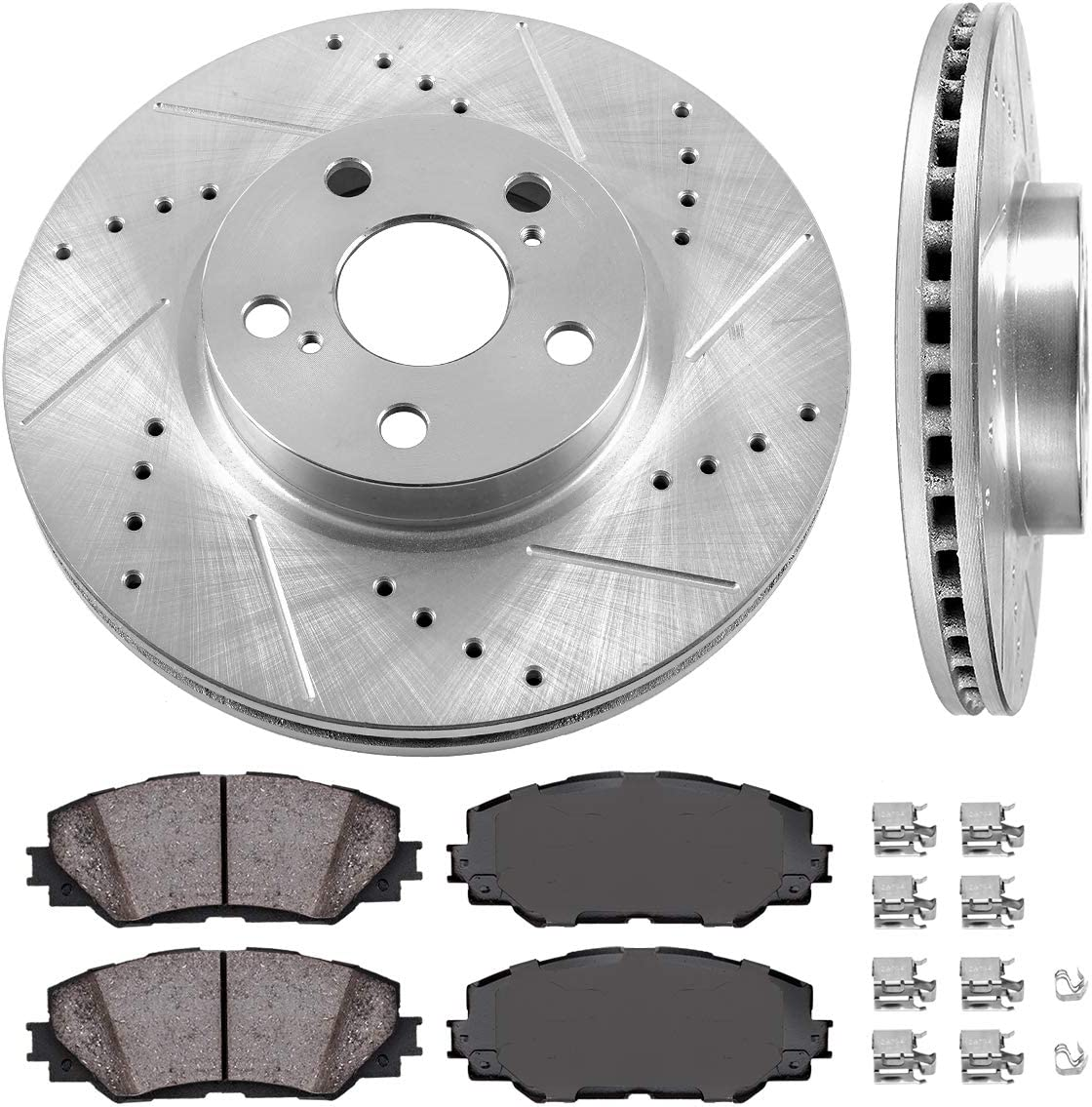 2013 Fit Toyota Corolla OE Replacement Rotors w//Ceramic Pads F