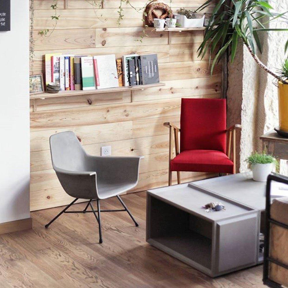 Lyon Béton Silla Bas Design hormigón Altavilla: Amazon.es: Hogar