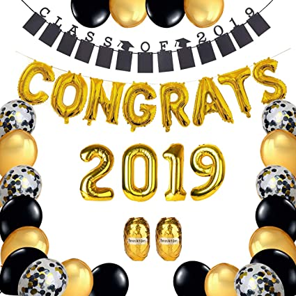 Amazon.com: Suministros para fiesta de graduación 2019 ...