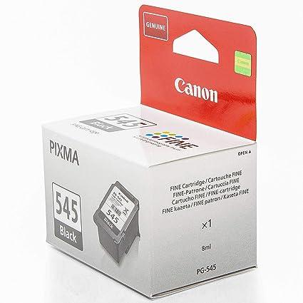 Canon PG-545 - Cartucho de Tinta para impresoras (Negro, 8 ...