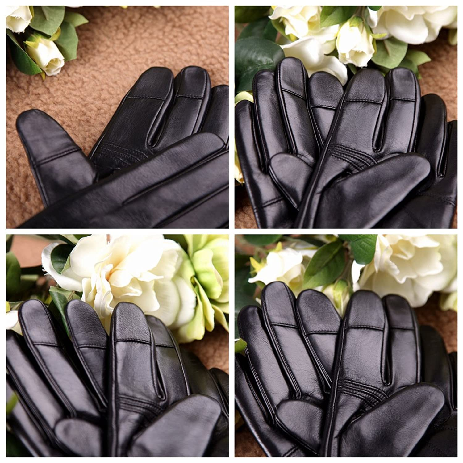 Driving gloves edmonton - Luxury Men S Touchscreen Texting Winter Italian Nappa Leather Gloves Plush Cashmere Lining Black 2014 Winter New Cashmere Lining 8 5 True To Us